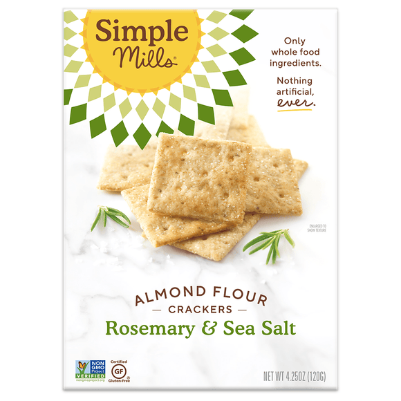 Simple Mill Almond Flour Crackers Rosemary & Sea Salt 4.25oz. - Greenwich Village Farm
