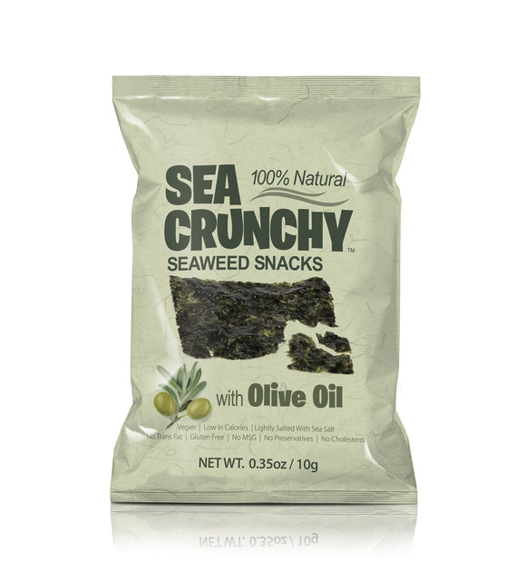 Sea Crunchy Seaweed Snacks Olive Oil 0.35oz. - Greenwich Village Farm