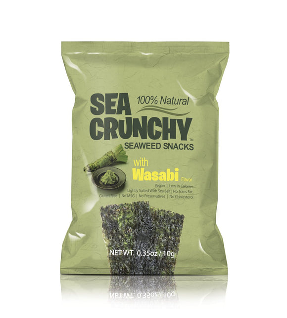 Sea Crunchy Seaweed Snacks Wasabi 0.35oz. - Greenwich Village Farm