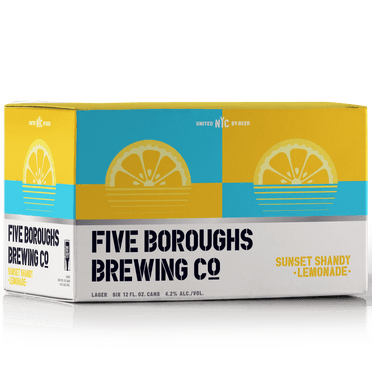 Five Boroughs Sunset Shandy Lemonade 12oz. Can