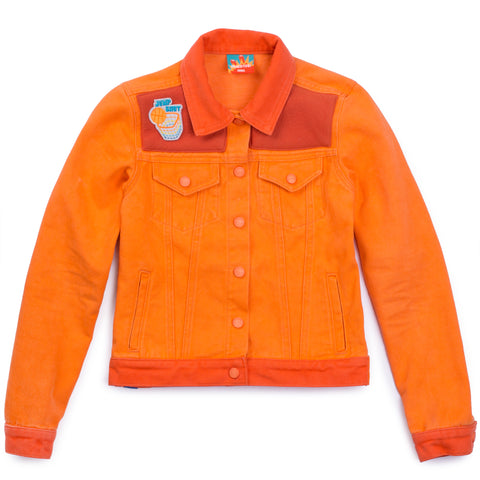 Women's Orange Denim Jacket