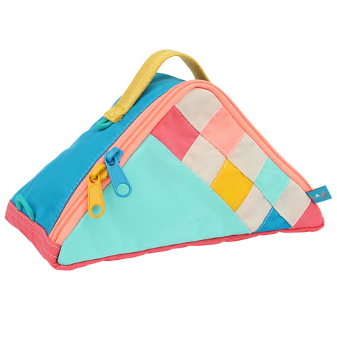 Dreamscape Checker Triangle Pouch