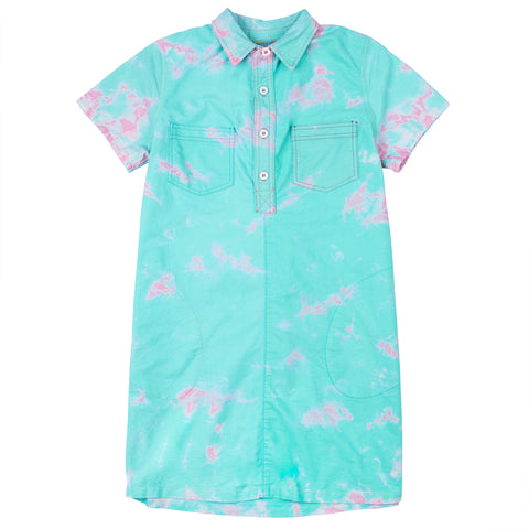 Cotton Candy Shirt Dress