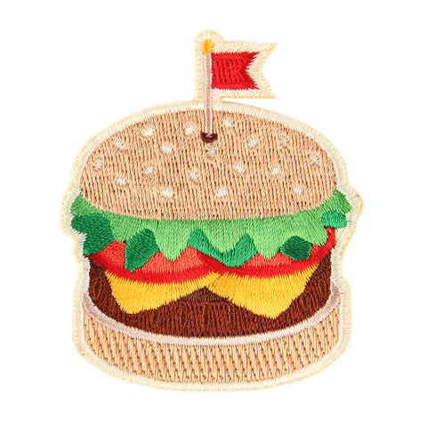 Burger Embroidered Sticker