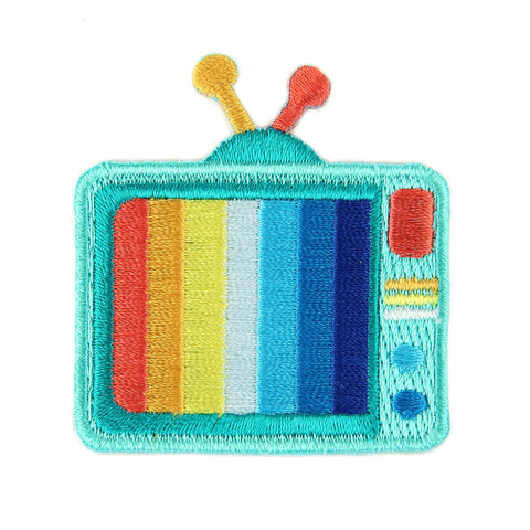 Television Embroidered Sticker