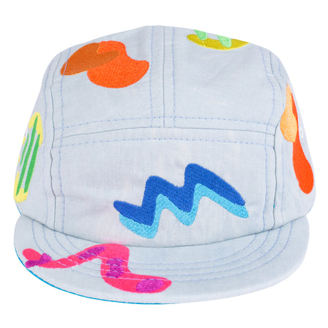 Embroidered Form 5 Panel Hat