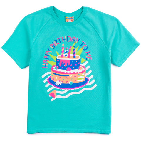 Happy Birthday Puff Sweatshirt Tee