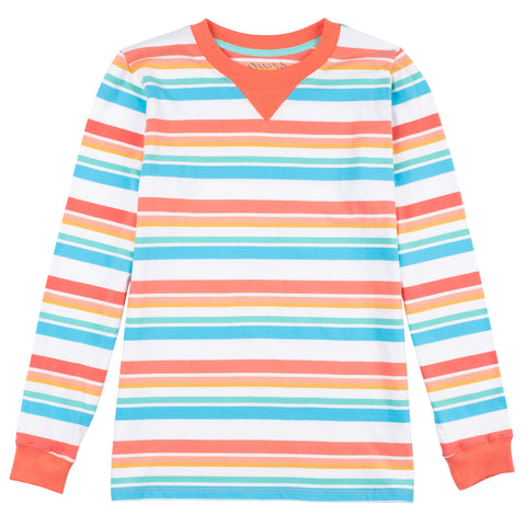 Jumping Jack Long Sleeve Stripe Tee