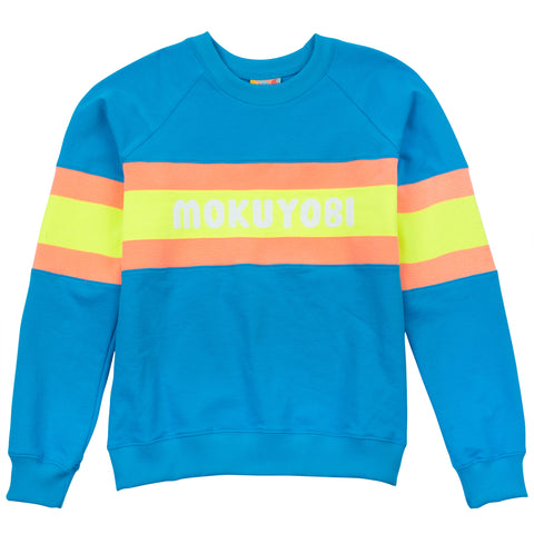 Neon Knit Band Sweatshirt