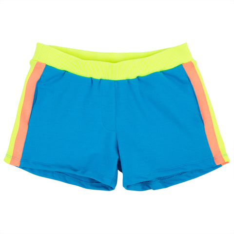 Neon Knit Band Sweatshorts