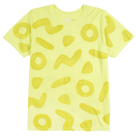 Neon Yellow Shapes Tee