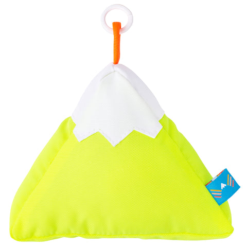Neon Yellow Plush Mountain Keychain