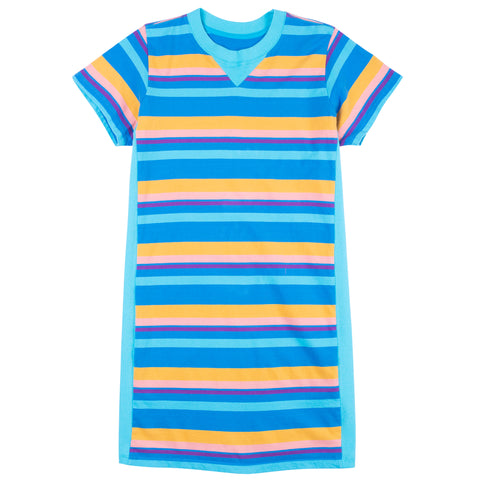 Pinwheel Stripe T-Shirt Dress
