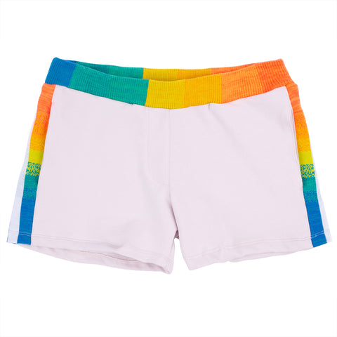 Rainbow Knit Band Sweatshorts