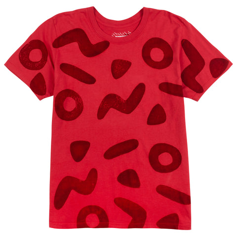 Red Shapes Tee