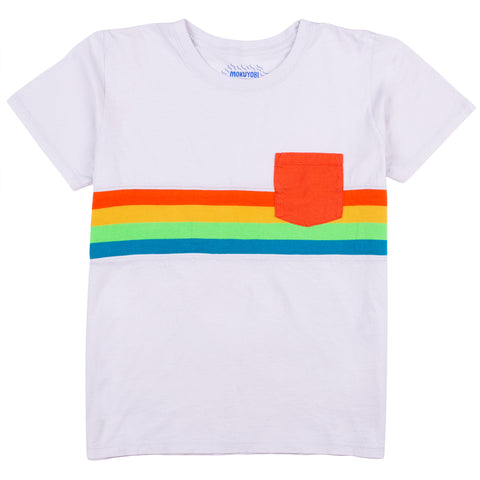 Space Wonder Knit Stripe Pocket Tee