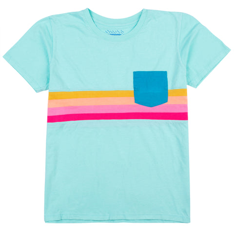 Spectrum Knit Stripe Pocket Tee