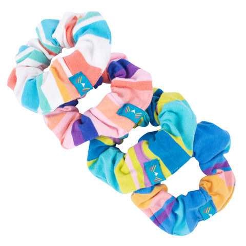 Knit Stripe Scrunchie 4-Pack