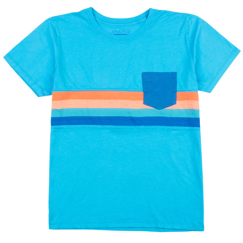 Tropic Waters Knit Stripe Pocket Tee
