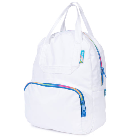 White Mini Atlas Backpack
