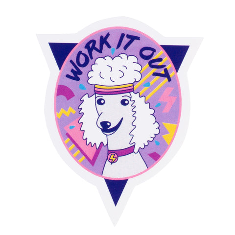 Work It Out Sticker