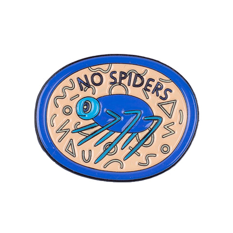 No Spiders Pin