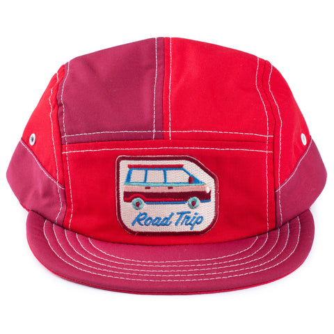Van Red 7 Panel Hat