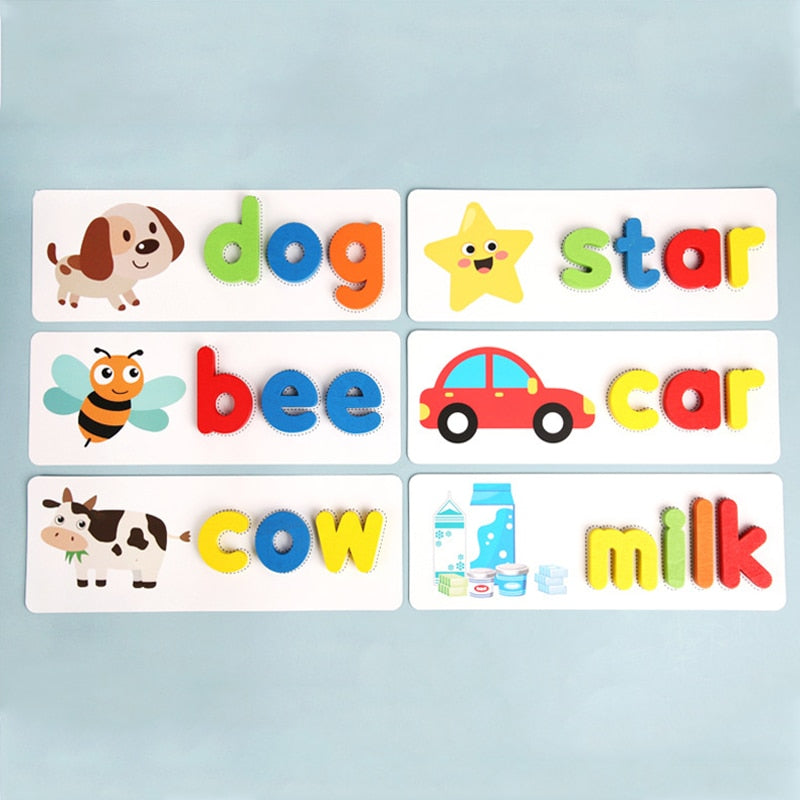 Wooden Alphabet Cards Set