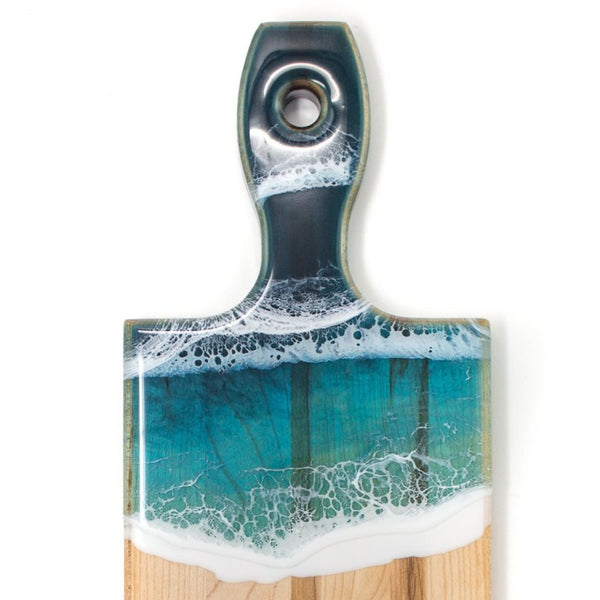 :Maple serving board - ocean waves