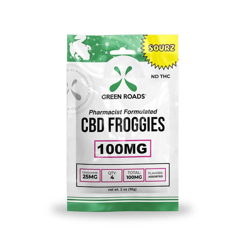 Green Roads 100MG CBD Froggies Sourz 4 Pack