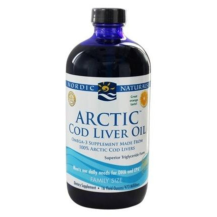 Arctic Cod Liver Oil 16oz-Orange-Nordic