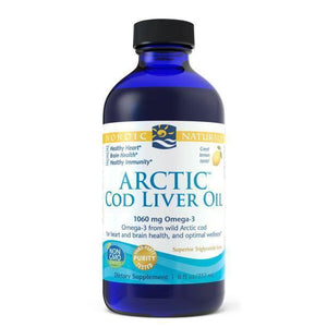 Arctic Cod Liver Oil 8oz-Lemon-Nordic