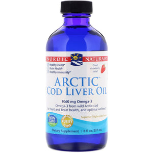 Arctic Cod Liver Oil 8 oz-Stawberry-Nordic3