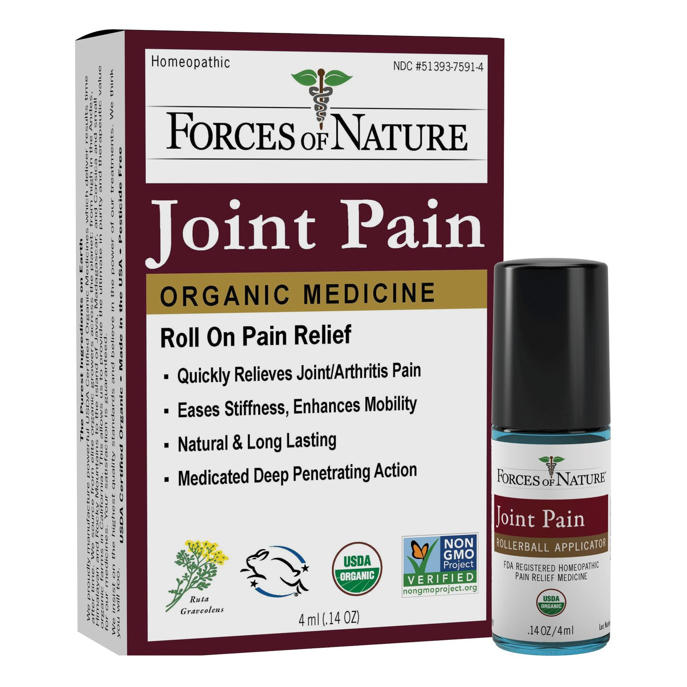Joint Pain Management Rollerball- 4ml- Forces Of Nature
