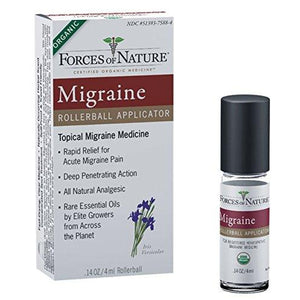 Migraine Pain Management Rollerball Applicator-4ml- Forces Of Nature