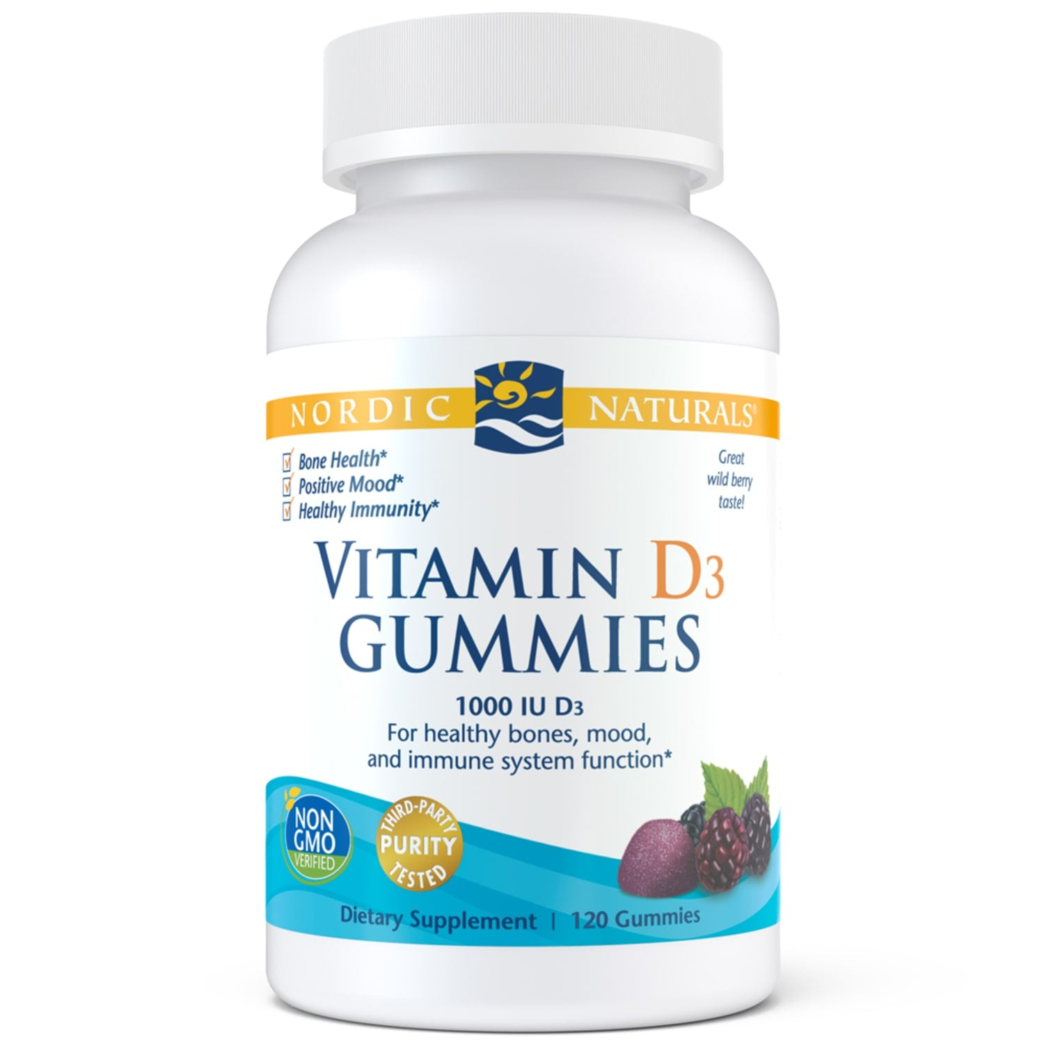 Vitamin D3 Gummies-120ct-Nordic