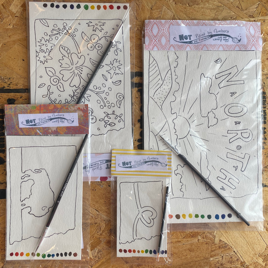 Not-Paint-by-Numbers North Dakota Themed DIY Kit