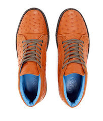 Tangerine High-top in Ostrich Leather