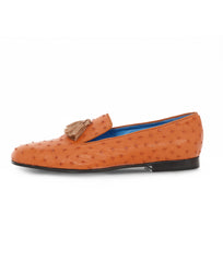 Tangerine Slipper in Ostrich Leather