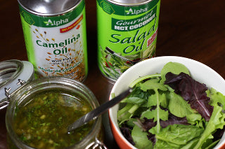 Alpha's Gourmet Salad Oil and Camelina combine for an excellent dressing