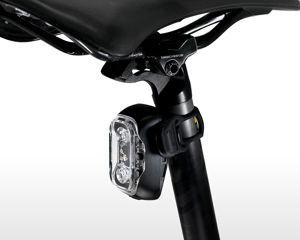 Cliq mounted on seatpost