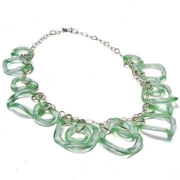 Recycled Glass Ruffle Necklace by Smart Glass