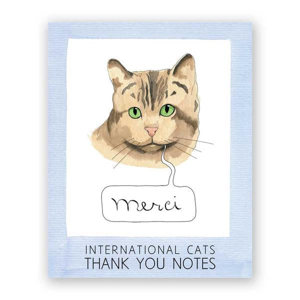International Cats Thank You Notes Boxed Set of 16