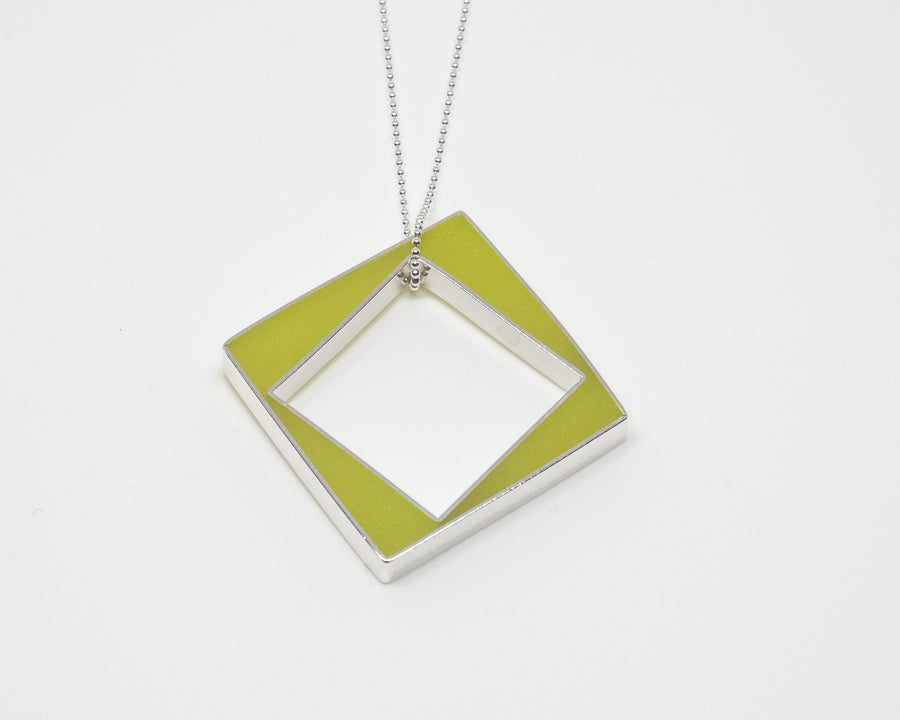 Chartreuse Arcadia Panic Necklace by Lolly Jo Lolli