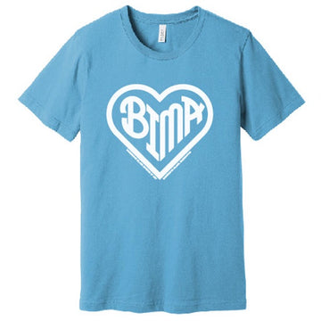 BIMA Heart T-Shirt Ocean Blue