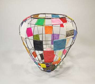 Patchwork Basket by Sally Prangley