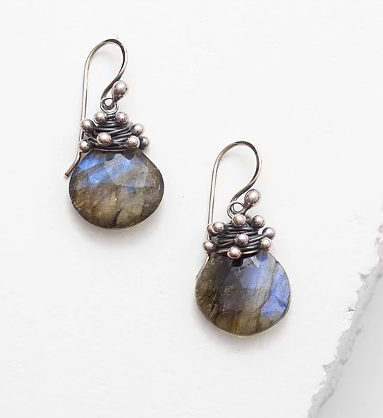 Zuzko Swarm Earrings in Labradorite