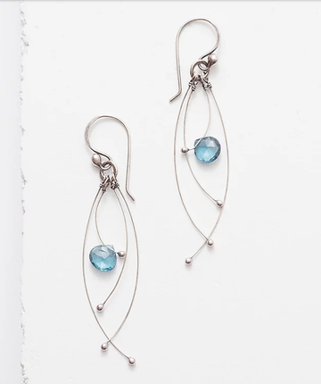 Zuzko Tickle Earrings in London Blue Topaz