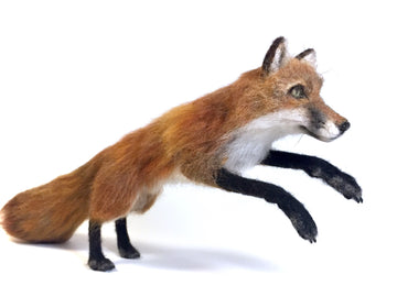 Felted Fox Sculpture: Archer
