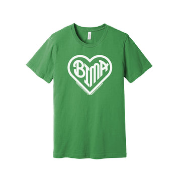 BIMA Heart T-Shirt Leaf Green